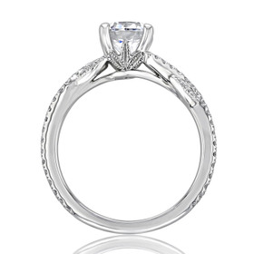 Micro-Prong Moissanite Engagement Ring (FG516-M)