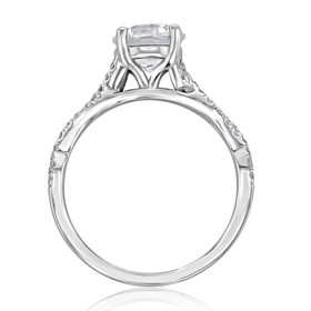 Micro-Prong Moissanite Engagement Ring (MR3-M)