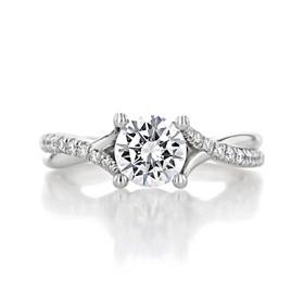 1.00 Ct. Round Moissanite Micro-Prong Twist Engagement Ring (GC07-M)