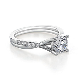 Micro-Prong Twist Moissanite Engagement Ring (GC07-M)