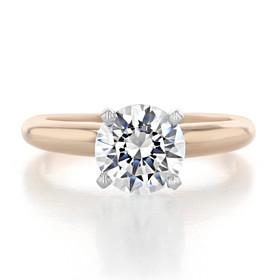 14K Rose Gold Proposal Ring (SO38)