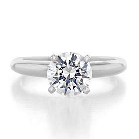 1.25 ct Round Solitaire White Gold Proposal Ring (SO38)