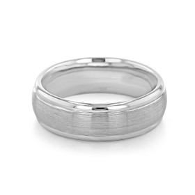 Signature Grey Gold Men's Wedding Band (WB159)