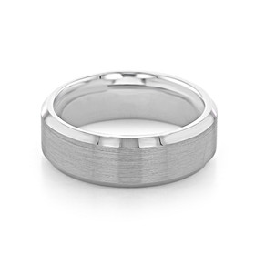 Signature Grey Gold Men's Wedding Band (WB437)