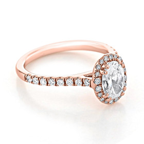 evertrue Rose Gold Halo Engagement Ring (EV14-OV)