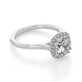 evertrue Halo Engagement Ring (EV14-SO)