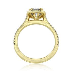 evertrue Yellow Gold Halo Engagement Ring (EV105-Y)