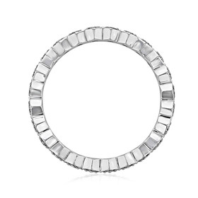 Hexagonal Pavé Wedding Band (LB15)