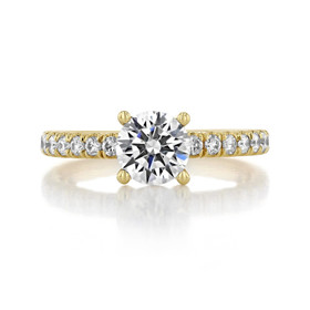 1 ct Round Gabriel Micro-Prong Yellow Gold Engagement Ring (GC39Y)