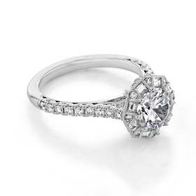 Tacori Petite Crescent Engagement Ring (HT2556RD7)