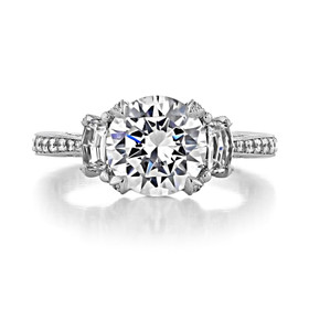 2.50 ct Tacori RoyalT Platinum Engagement Ring (HT2655RD85)