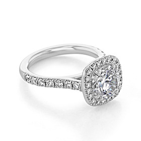 Halo Micro-Prong Engagement Ring (EV14A)