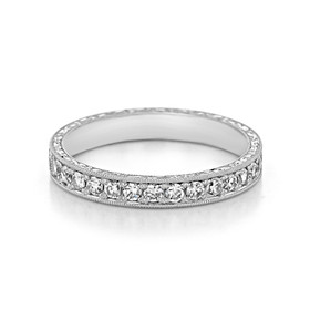 Pavé-Set Wedding Band (LB195)