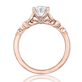 Rose Gold Moissanite Solitaire Engagement Ring (FG57-M)