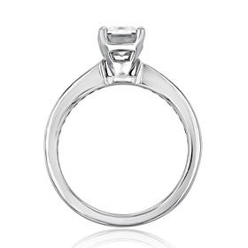 Channel-Set Moissanite Engagement Ring (CR117-M)