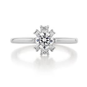 .50 ct Round Gabriel Halo White Gold Engagement Ring (ER14659)