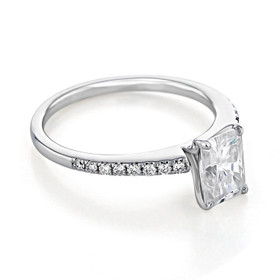 Micro-Prong Moissanite Engagement Ring (GC21-M)
