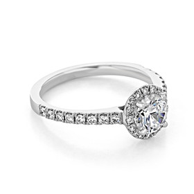 Halo Micro-Prong Engagement Ring (FG442)