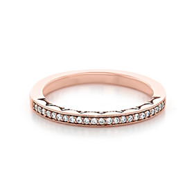 Tacori Coastal Crescent Wedding Band (P103BFPK)