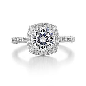 2 ct Tacori Petite Crescent White Gold Engagement Ring (HT2571CU8)