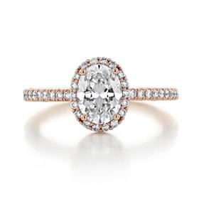 1.25 ct Tacori Petite Crescent Rose Gold Engagement Ring (HT257215OV8X6)