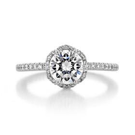 Tacori Petite Crescent Engagement Ring (HT257215RD7)