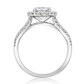 Halo Moissanite Engagement Ring (MR16-M)