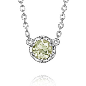 Crescent Crown Prasiolite Fashion Necklace (SN23612)