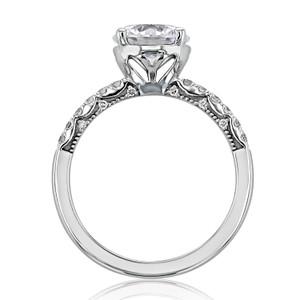 Tacori Coastal Crescent Moissanite Engagement Ring (P1042RD8FW-M)