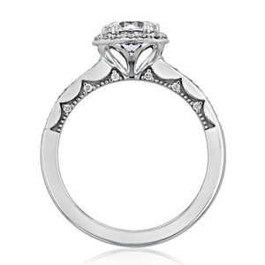 Tacori Coastal Crescent Moissanite Engagement Ring (P103RD65FW-M)