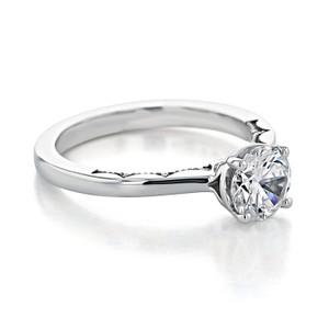 Tacori Coastal Crescent Moissanite Engagement Ring (P100RD65FW-M)