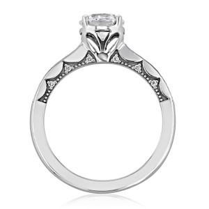 Tacori Coastal Crescent Moissanite Engagement Ring (P102RD65FW-M)