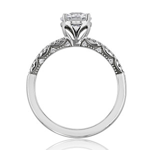Tacori Coastal Crescent Moissanite Engagement Ring (P104RD65FW-M)