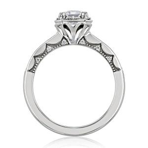 Tacori Coastal Crescent Moissanite Engagement Ring (P103EC7X5FW-M)