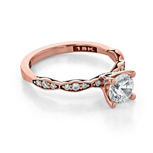 Tacori Sculpted Crescent Moissanite Rose Gold Engagement Ring (46-2RD6PK-M)