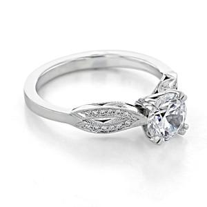 Tacori Ribbon Moissanite Engagement Ring (2573SMRD65-M)