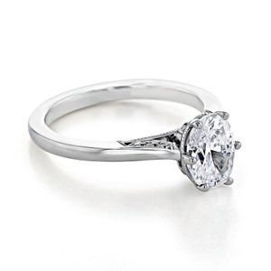 Simply Tacori Moissanite Engagement Ring (2650OV8X6-M)