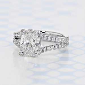Danhov Split Ring Body Oval Shape Lab Diamond Engagement Ring (2006413)