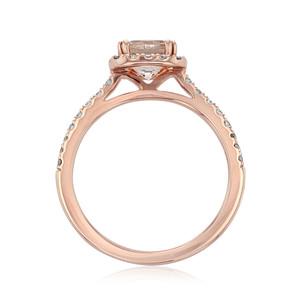 Rose Gold Morganite Engagement Ring (R848-4)