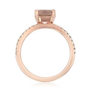 Rose Gold Morganite Engagement Ring (R855-4)