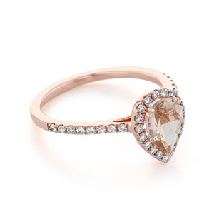 Rose Gold Morganite Engagement Ring (R862-4)