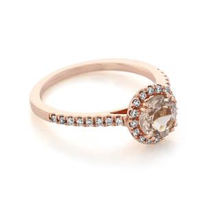 Rose Gold Morganite Engagement Ring (R868-4)