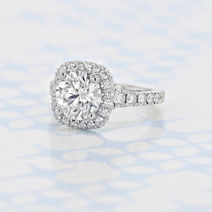 Gabriel NY Halo Round Shape Lab Diamond Engagement Ring (2006172)