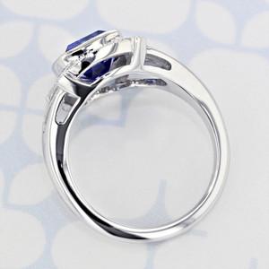 Custom Halo Cushion Shape Tanzanite Engagement Ring (6001550)
