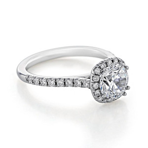 evertrue Halo Engagement Ring (EV14-LD)