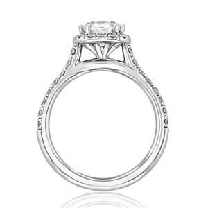 evertrue Halo Engagement Ring (EV14-LD)