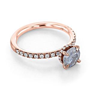 Grey Moissanite Engagement Ring (CR19R)