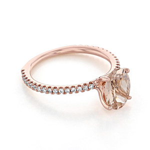 Rose Gold Morganite Engagement Ring (R0999-4)