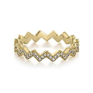 Diamond Zig-Zag Wedding Band (LB16-Y)