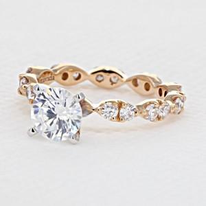 Rose Gold Micro-Prong Engagement Ring (AV27R)